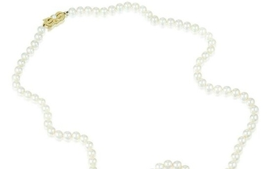 Mikimoto Cultured Pearl Matinee Length Necklace