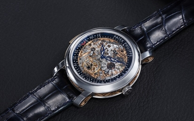 PATEK PHILIPPE, REF. 5104P, A PLATINUM AND GOLD MINUTE REPEATER PERPETUAL CALENDAR