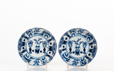Pair of Small Blue and White Dishes