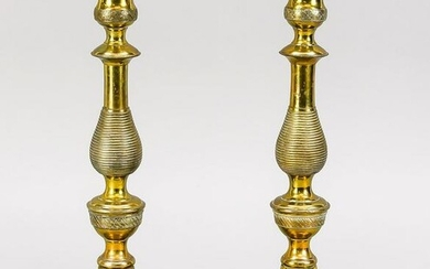 Pair of table candlesticks, late 19