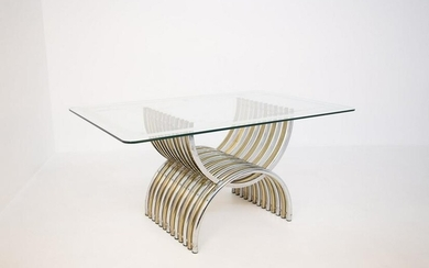 Romeo Rega Dining Table in Steel and Glass