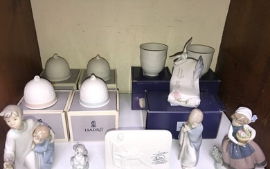 SECTION 6. A mixed collection of Lladro including four Campa...
