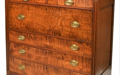 Sheraton Cherry Butlers Desk, with tiger maple drawers