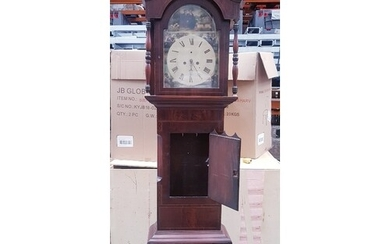 Substantial Victorian Longcase Grandfather Clock standing 94...