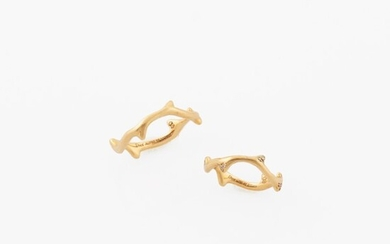 TWO DIAMOND AND GOLD RINGS, DIOR Bois de Rose