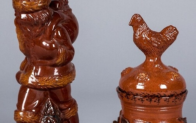 Two pieces of Ned Foltz contemporary redware
