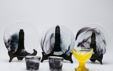 "ULRICA HYDMAN-VALLIEN. 6 parts, glass, ""Mine"", Kosta Boda."