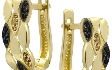 Yellow Gold 14K Earrings (Matching Ring Available)