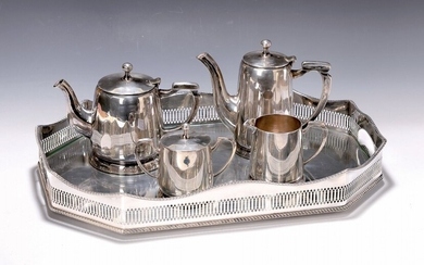 tray with coffee and tea set, around 1905/10,...