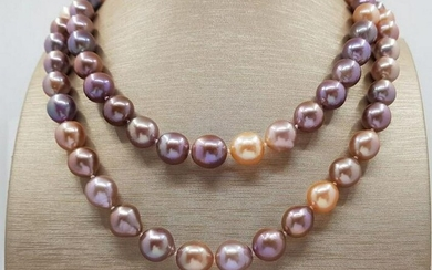 10x12mm Multi Edison Freshwater pearls - Necklace