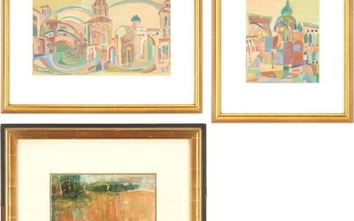 3 Watercolor Paintings, incl. Helene Glass