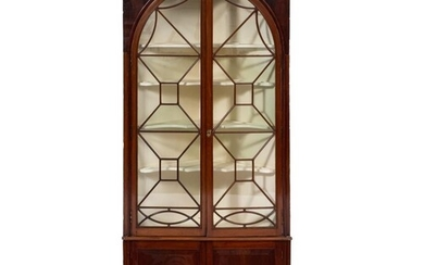 A 19th Century mahogany standing corner display cabinet:, in...