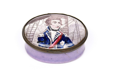 A South Staffordshire enamel patch box early 19th century