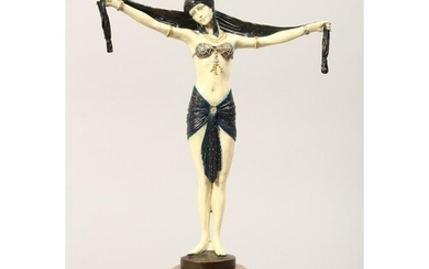 AFTER D. H. CHIPARUS. A COLD PAINTED BRONZE ART DECO STYLE F...