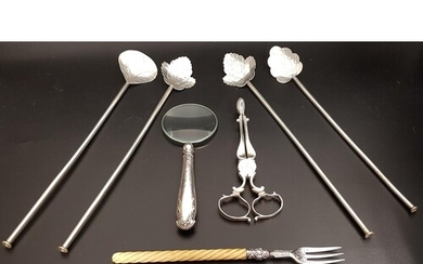 ASSORTED LOT OF SILVER including a pickle fork, Birmingham 1...