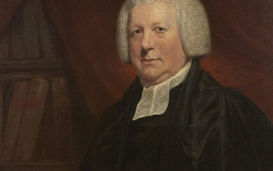 After George Francis Joseph, A.R.A., British 1764-1846- Portrait of the Reverend Samuel Glasse, DD FRS (1735-1812), half-length, sitting at a desk; oil on canvas, 92 x 72.2 cm. Provenance: John Robinson, Esq.; By whom bequeathed to George Henry...