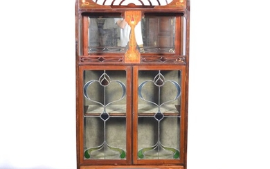 An English Art Nouveau cabinet, in the manner of Shapland and Petter of Barnstaple