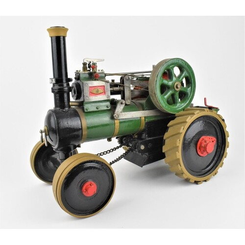 An early 20th century hand made traction engine, made by Mr....