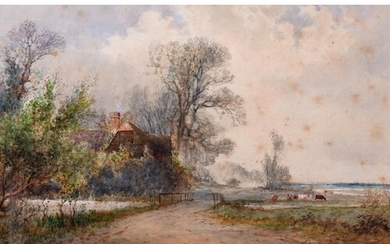 Arthur Willett (1857-1918) British. A Country Landscape with...