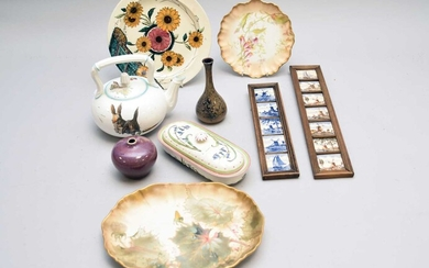 Assorted ceramics including Minton and Royal Worcester