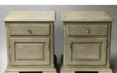 BEDSIDE CABINETS, a pair, 19th century style, traditionally ...