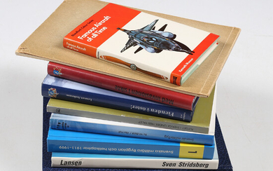 BOOKS, 10 volumes, history of military aviation, 20th century.