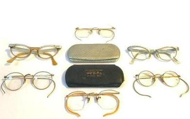 Collection of Early to Mid 20th Century Eyeglasses