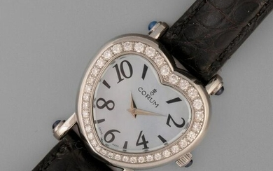 Corum, Stainless Steel and Diamond Heart Form