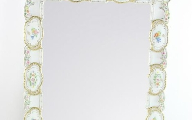 German Porcelain Framed Mirror
