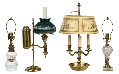 Group of Four Assorted Table Lamps