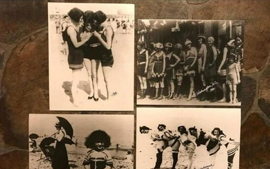 Group of Photo Prints, Early 1900's Bathing Suits