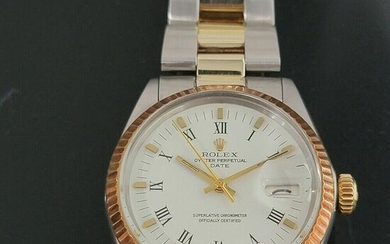 Mens Rolex Oyster Perpetual Date 1500 35mm Gold ss