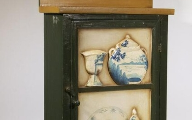 PAINTED WALL CABINET
