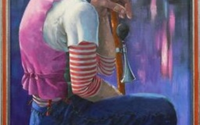 Painting, Seated Clown