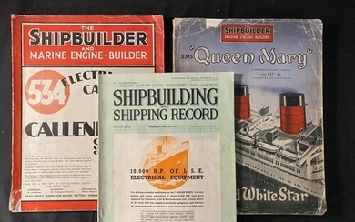 R.M.S. QUEEN MARY: Soft cover souvenir issue of The Shipbuil...