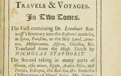 Ray (John) A Collection of Curious Travels & Voyages, 2