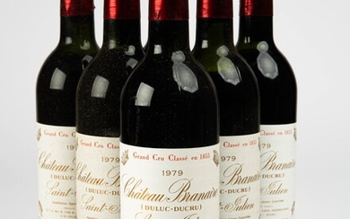 Six bottles of red wine / wine, Château Branaire-Ducru, Gironde, France, 1979 (6)
