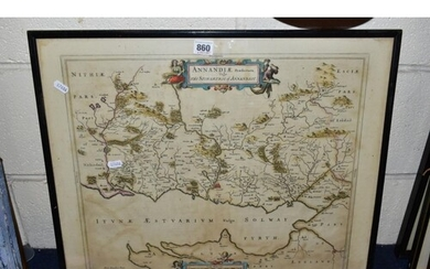 TIMOTHY PONT AND J. BLAEU, a map of Dumfries circa 1654 or l...