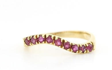 18 kt. Yellow gold - Ring - 0.45 ct Rubies