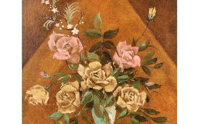 20th Century School, A stylised still life of roses, oil on ...