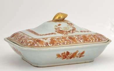 A Chinese Export Porcelain Covered Serving Dish