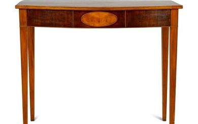 A George III Style Mahogany Console Table Height 29 3/4
