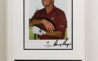A Group of Gary Player Signed Autograph Displays
