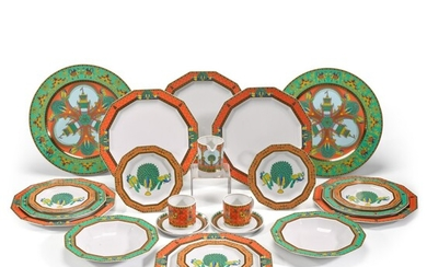 A Versace 'Le Voyage de Marco Polo' part dinner and coffee service, Rosenthal, 20th century