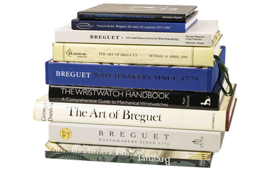 A collection books and catalogues on watches