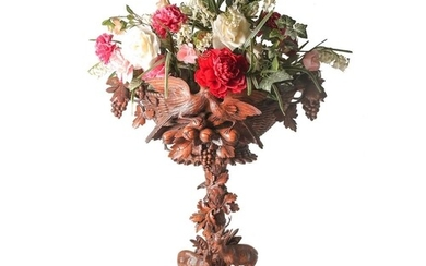 A large exhibition quality Black Forest centrepiece, circa 1...