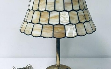 """ART GLASS TABLE LAMP, C. LATER 20TH C., H 23.5"""""""