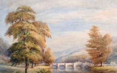 Alfred Thomas Fisher (1861 - ?) British. A River Landscape, ...