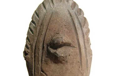 An African terracotta head, possibly Nok culture