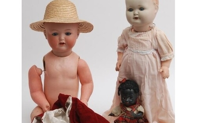 An Armand Marseille bisque socket head doll with sleeping bl...